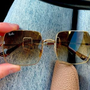 Ray-ban square sunglasses worn once